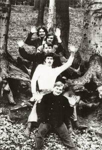 Su grupe koncertinėje kelionėje Lenkijoje, 1969 m. A. Vaškevičius, A. Babkovskis, D. Janušas, K. Antanėlis, R. Jasenka