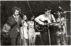"""Generalinė roko operos """"Jėzus Kristus Superžvaigždė"""" repeticija prieš premjerą Dailės institute 1971 m. gruodžio 25 d."""