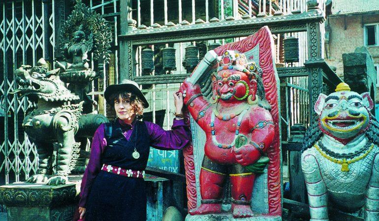 Jurga Ivanauskaitė Nepale. Nuotrauka iš šeimos archyvo