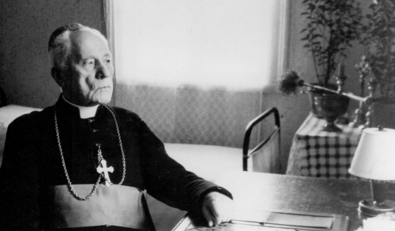 Archbishop Teofilius Matulionis is pictured in a 1957 photo. Archbishop Matulionis, who was murdered in 1962 with a lethal injection after 16 years in prisons and labor camps, was to become the first Catholic martyr from the country's communist era to be declared blessed June 25 in Vilnius. (CNS photo/courtesy Diocese Kaisiadorys) See LITHUANIA- MATULIONIS-BEATIFY June 9, 2017.