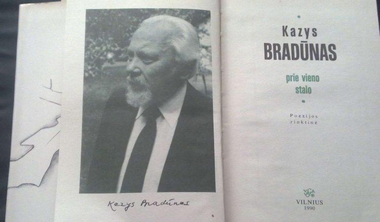 """Kazys Bradūnas: """"Dievas liepė man būti, ir aš atbuvau"""""""