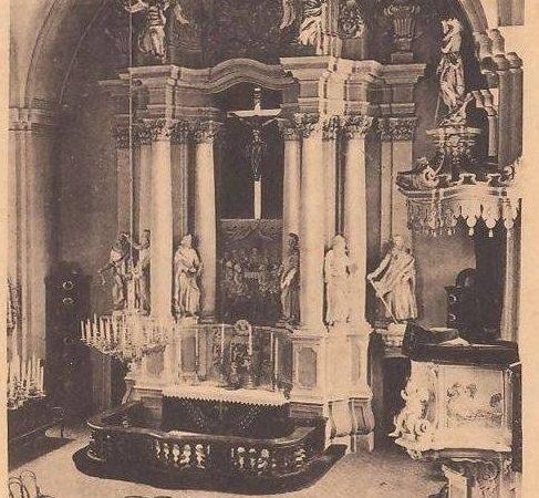 Vilniaus evangelikų liuteronų bažnyčios interjeras 1916 m.