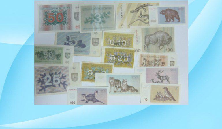 Prieš 25 metus nustojo cirkuliuoti Lietuvos laikinieji pinigai talonai