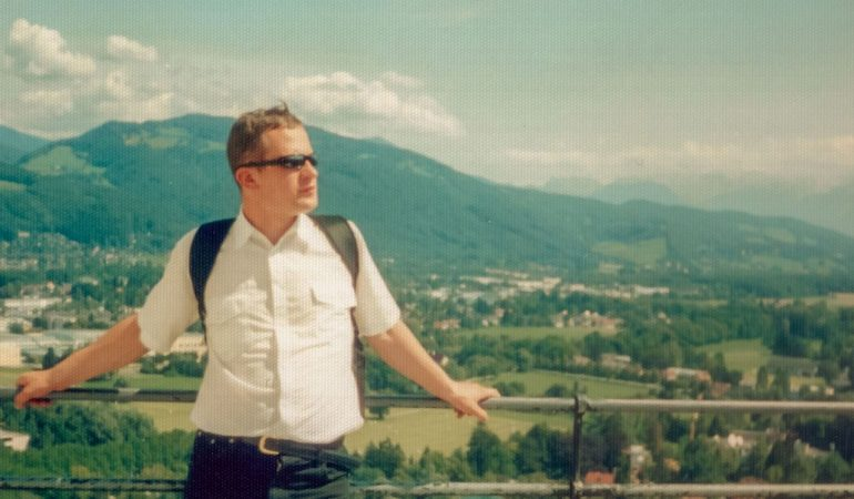 Studijų metais. Zalcburgas, 1993