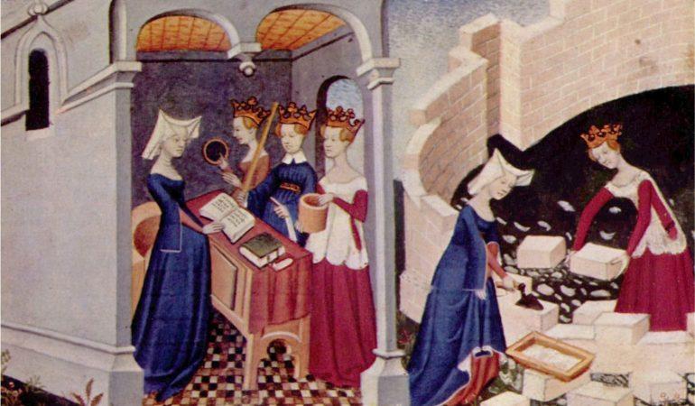 """Fragmentas iš Christine de Pizan paveikslo """"Moterų miestas"""" / Wikimedia.org iliustracija"""