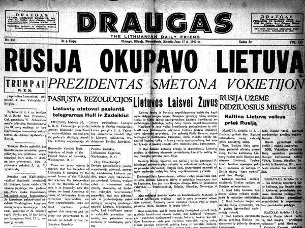 1940 m. birželio 15 d. – Lietuvos Respublikos okupacija