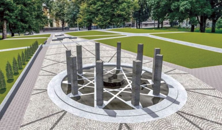 Paminklas Lietuvos Reformacijos ir lietuviškos raštijos pradininkams