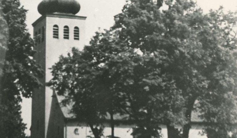 Johano Ferdinando Kelkio gimtųjų Piktupėnų evangelikų liuteronų bažnyčia; suniokota karo 1944 m. pabaigoje ir galutinai sunaikinta sovietų okupacijos metais