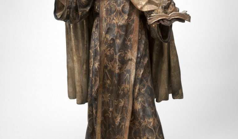 Francisco Antonio Gijón (Spanish, 1653 - after 1705), Saint John of the Cross (San Juan de la Cruz), 1675, polychromed and gilded wood with sgraffitto decoration (estofado), Patrons' Permanent Fund 2003.124.1