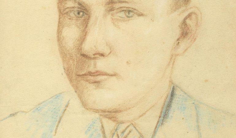 Ansas Lymantas jaunystėje. Autoportretas.